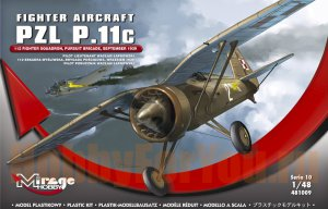 481009 Самолёт PZL P.11c  112 Fighter Squadron, Pursuit Brigade, September 1939 (Mirage Hobby) 1/48