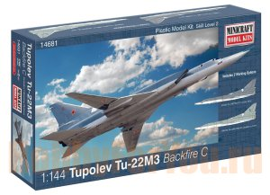 14681 Бомбардировщик TU-22M3 Backfire USSR with 2 marking options (MINICRAFT) 1/144
