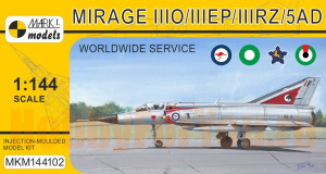 MKM144102 Самолет Mirage IIII O/IIIEP/IIIRZ/5AD (MARK I Models) 1/144