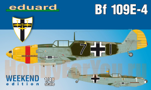 84153 Самолет Bf-109E-4 weekend edition (Eduard) 1/48