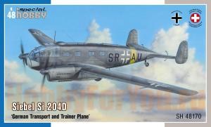 SH 48170 Самолет Siebel Si 204D  German Transport and Trainer Plane (Special Hobby) 1/48