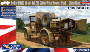 35GM0024 Водовоз-цистерна Bedford MWC 15-cwt 4x2 200 Gallon Water Bowser Truck (GECKO MODELS) 1/35