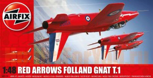 05124 Самолет Red Arrows Folland Gnat T1 (AIRFIX) 1/48