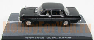 "Toyota crown s40 ""you only live twice"" 1967 black (Jemes Bond Car Collection) 1/43"