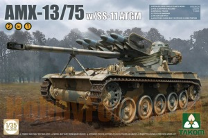 2038 Танк  French Light Tank AMX-13/75 with SS-11 ATGM 2 in 1 (Takom) 1/35