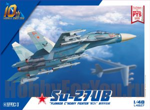 L4827  Самолет Su-27UB  Flanker C  Heavy Fighter (Great Wall) 1/48