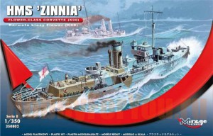350802 Корабль HMS 'ZINNIA Flower - Class Corvette (K98) (Mirage Hobby) 1/350