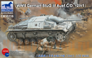 CB35116 САУ WWII German StuG III Ausf C/D with 75mm StuK 37/L24 75mm StuK (Bronco Models) 1/35