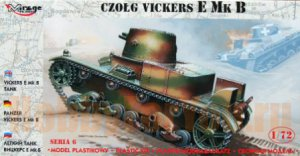 726004 Танк TANK VICKERS E MK.B SINGLE TURRET (Mirage Hobby) 1/72