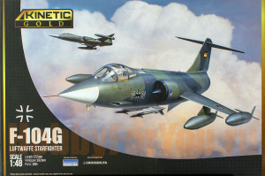 K48083 Самолет F-104G Luftwaffe Starfighter ( KINETIC) 1/48