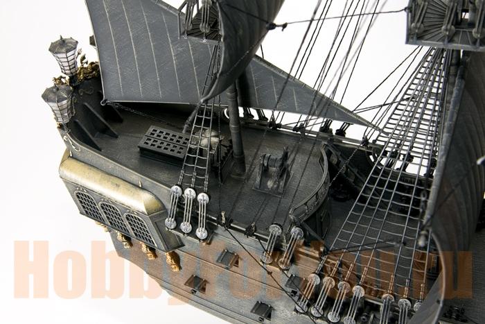 Сборная модель корабля черная жемчужина из дерева купить