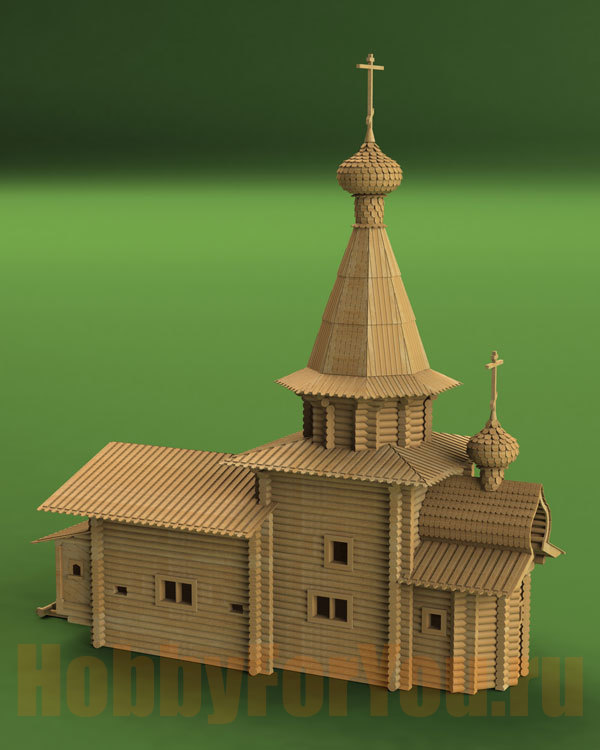 Поделки храмов из бумаги