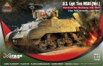 726086 Танк U.S. Light Tank M5A1 (Mid.) 2nd Armd. Div. Normandy, July 1944 (Mirage Hobby) 1/72