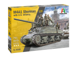 6568 ИТ Танк M4A1 SHERMAN wiith infantry (ITALERI) 1/35