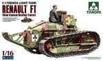1003 Танк French light Tank Renault FT Char Canon /Berliet Turret  (Takom)  1/16