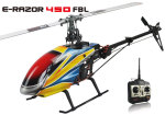 �������� E-razor 450 FBL carbon fiber version (PNP,  w/o Tx, Rx, battery and Charger)