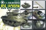 AF35058 Танк M36 Jackson W.W.II Type U.S.Army 90mm Tank Destroyer Gun Motor Carriage (AFV CLUB) 1/35