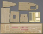 "72124 Палуба дерево+фтд WOODEN DECK  FOR CARRIER AKAGI ""THREE FLIGHT DECK""  (HASEGAWA)   1/700"