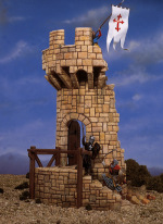 AS-002 Строение: Medieval Tower (54mm) (ANDREA MINIATURAS)