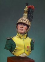 S9-B17 Миниатюра: Chef D`Escadron Dragoons 1810-1812  1/10 (пластик+метал) (ANDREA MINIATURAS)