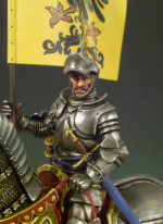 SM-F09 Миниатюра: Knight in armour (54mm) (метал) (ANDREA MINIATURAS)